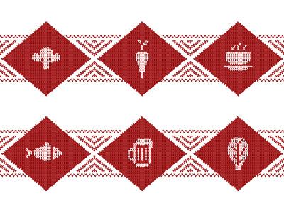 «Knitted» icons food restaurant icons pack icons set ui digitalart icon webdesign vector web creative illustration digital design