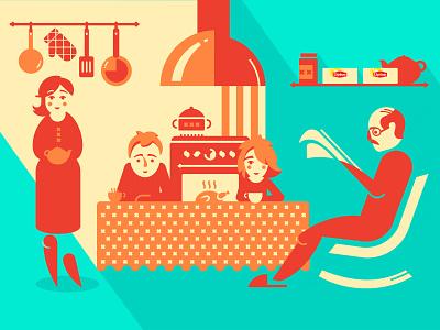 Lipton Social Play Ground lipton retro people tea digital digitalart illustration art vector creative design