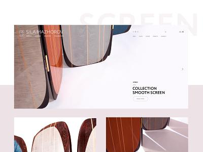 Sila Mazhorov digital webdesign creative interface design furniture web website clean minimalism site design interface ui  ux