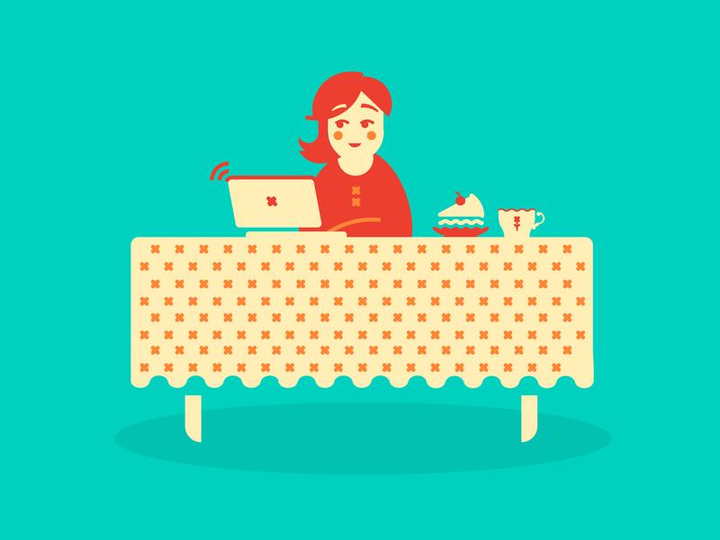 Tea time with Lipton character tea creative art vector illustration digitalart digital people lipton retro design