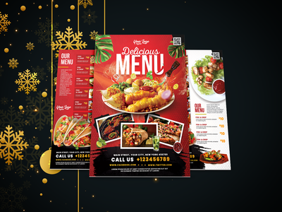 Restaurant Flyer Design vector freash logo creative  design creative flyer ui logo business ui christmasflyer best flyer design a fresh fresh web ui illustration mobile ui branding design flyer clean  creative fresh design restaurant flyer