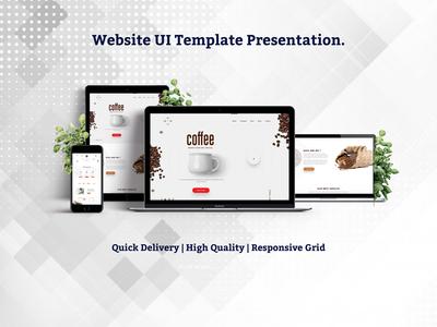 Coffee Shop Web UI Design
