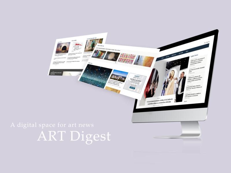 Art Newspaper Website news design ux ui website design adobe xd newspaper website digital news art