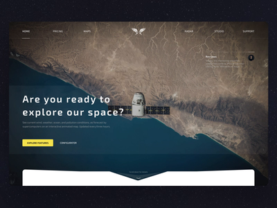 Exploring Space - Website and Web App minimal web reviews statistics 3d maps viewer universe space