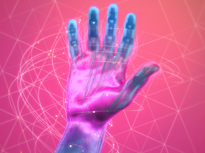 Hand Shot x-particles cinema4d c4d mograph