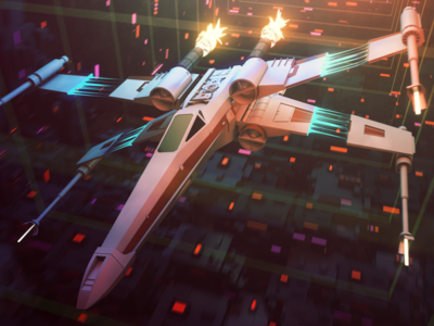 Gooey X-Wing  physical render hair material cinema4d motion design motiongraphics c4d