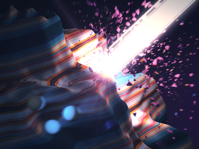 Explosion in Candy Land  composition design 3d explosion motionblur mograph motiongraphics cinema4d c4d