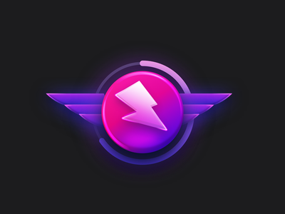 Electrik Badge ui loader lightning portfolio 80s branding web icon vector illustration logo design