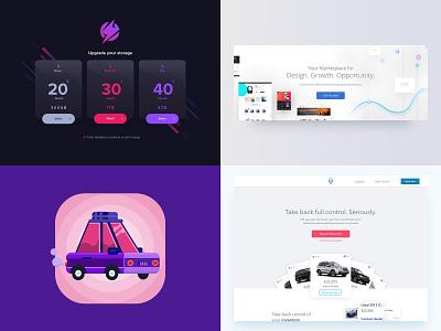2018 Hotshots branding clean website illustration web icon logo design app flat ux ui