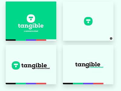 Tangible e-commerce logo font typography icon lettermark logomark school shopping ecommerce e-commerce flat design ui ux design branding logo