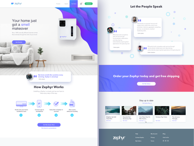 Zephyr homepage illustrations icons product catalog shopping clean white desktop homepage ux ui