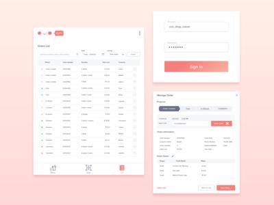 Merchant-facing Management Application