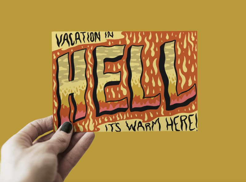 Hell Travel Postcards
