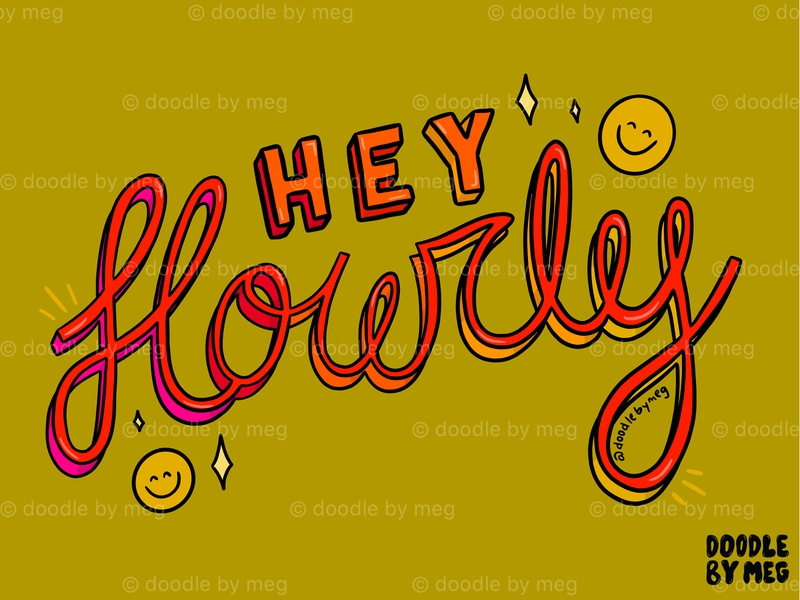 Hey Howdy type design type art cursive font cursive hand lettering procreate quote retro vintage lettering typography drawing illustration design