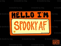 Spooky AF halloween design halloween spooky hello quote procreate vintage typography lettering drawing illustration design
