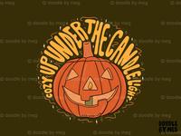 Candle Light halloween design halloween spooky candles candlelight candle jack o lantern pumpkins pumpkin orange quote procreate retro vintage lettering typography drawing illustration design