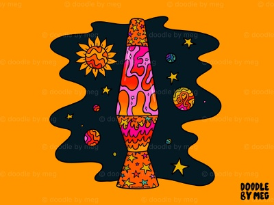 Leo lava lamp stars space astrology horoscope zodiac sign leo zodiac 70s lava lamp pscyhedelic rainbow quote retro procreate vintage lettering typography drawing illustration design