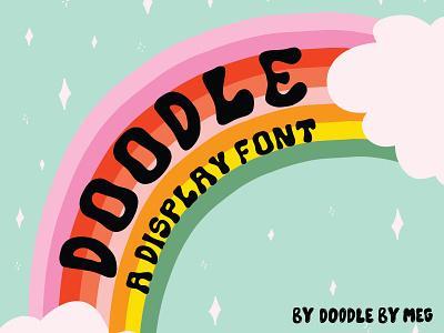 Doodle Font 70s 60s vintage display font font typeface procreate typography design