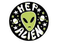 Hep Alien Badge