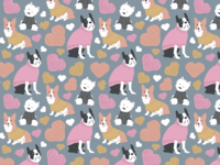 Dogs in Sweaters print