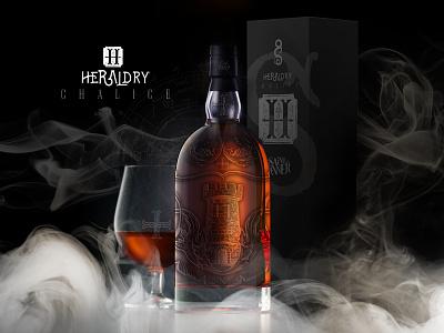 Heraldry: Chalice by Saint Sinner™ logo branding mockup botle packaging