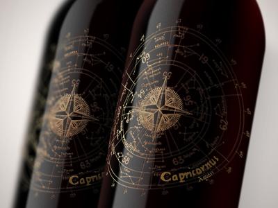 Capricornus by Saint Sinner™ celestial map logo branding mockup design bottle packaging