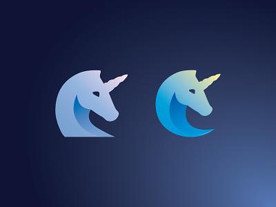 Unicorn 01 design logo drafts logo vector