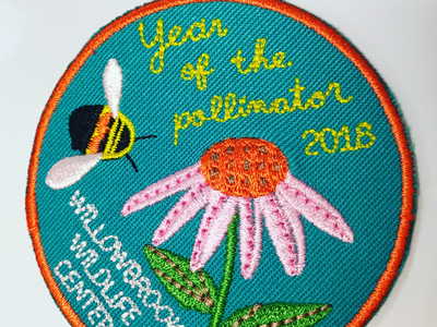 Year of the pollinator bee flower patch
