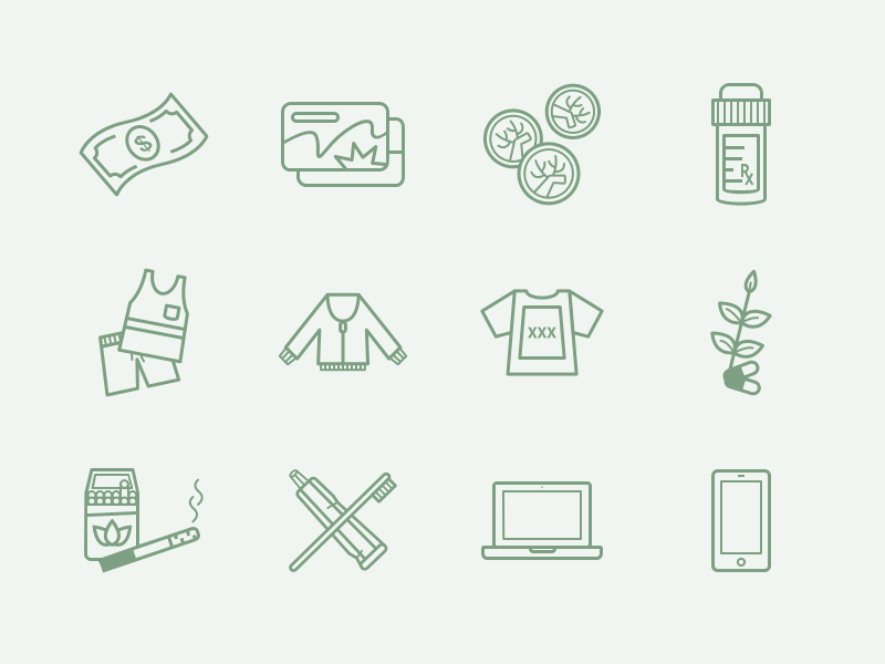Sage Icons icons money cards coins clothes devices