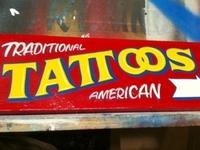 "Traditional American Tattoos - 16"" x 7"""