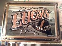 Lucy's Hat Shop - Copper Leaf on Antique Mirror