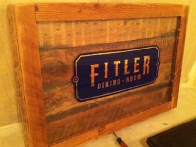 Fitler Dining Room Fabricated Sign W 23kt Gold Leaf