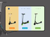 Scooter Landing Page - Daily UI 003