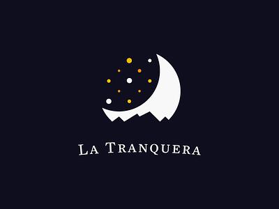 La Tranquera house moon sky neighborhood stars brand branding logo
