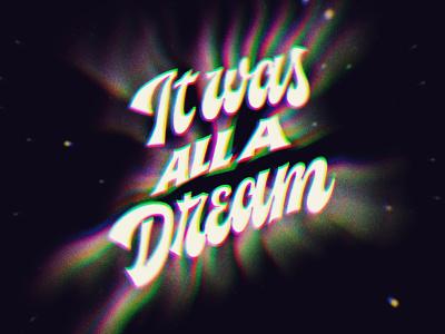 Juicy · Notorius B.I.G. handmade script glitch dream typography lettering