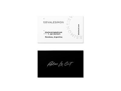 Blac Le Cat - Business cards