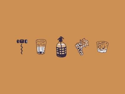 """Illustrations for """"El Club de la Damajuana"""""""