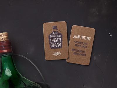 Business cards El Club de la Damajuana