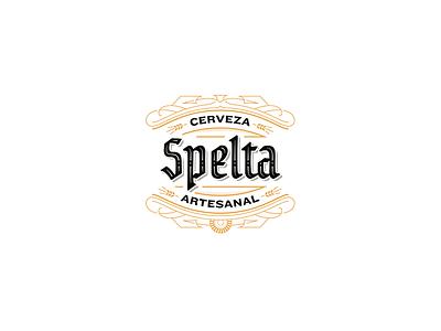 Spelta Logo custom type label illustrations pairing bottle craft beer beer lettering