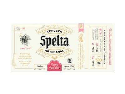 Spelta Label custom type label illustrations pairing bottle craft beer beer lettering