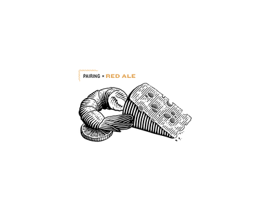 Pairing Red Ale for Spelta lemon cheese illustration engrave custom type label illustrations pairing bottle craft beer beer lettering