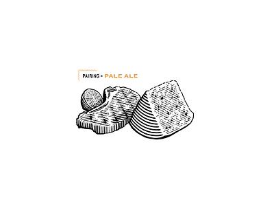 Pairing Pale Ale for Spelta pork lemon cheese illustration engrave pairing bottle craft beer beer lettering