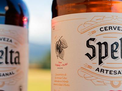 Spelta IBU meter stars label illustration hop bottle craft beer beer lettering