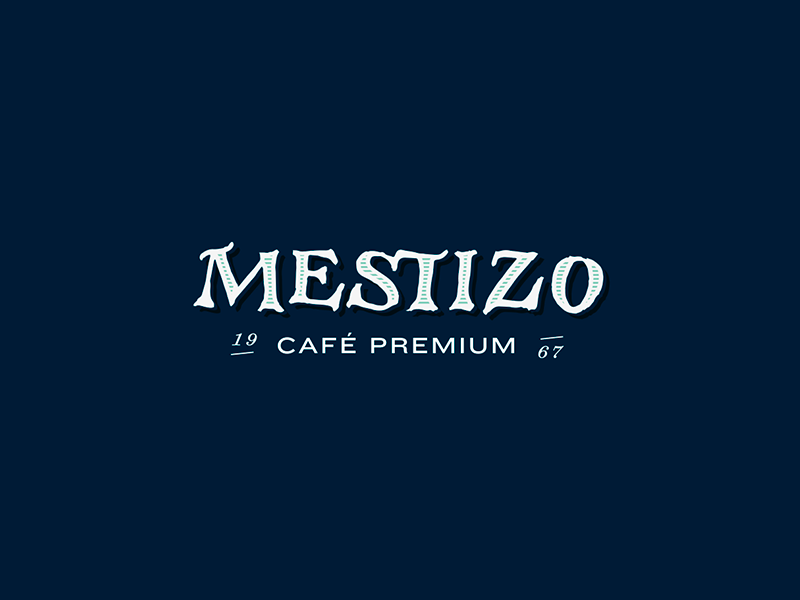 Mestizo logo packaging coffee handmade lettering logo