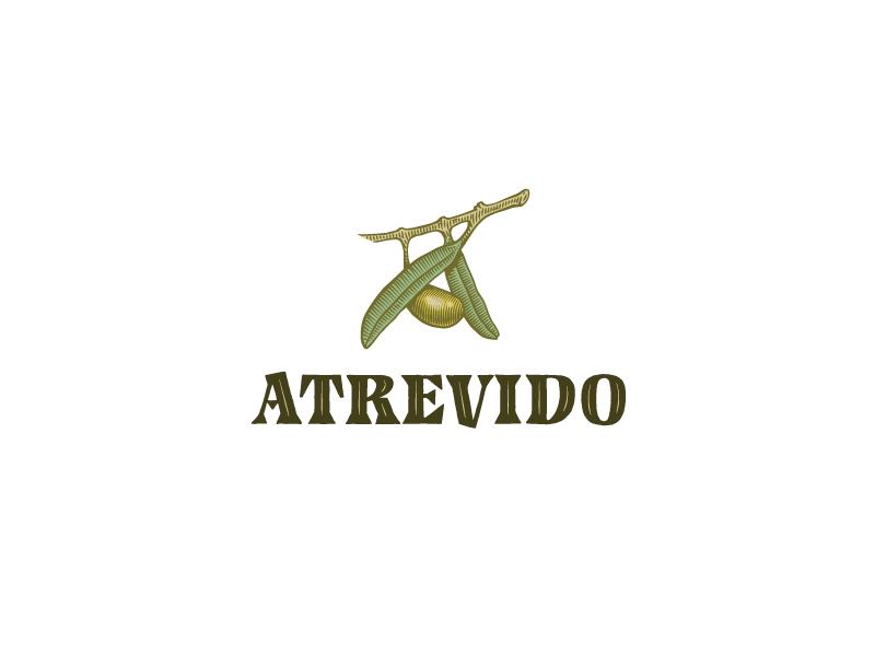 Atrevido logo packaging type font serif custom handmade engrave oil olive lettering