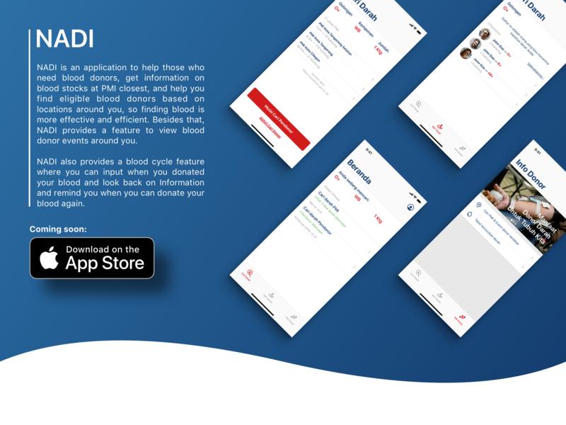NADI App - Donate blood, save lives! app typography illustration branding ux design ui design hospital blood