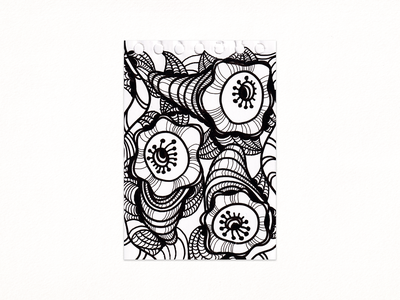 Pattern-Shell ink abstract 2021 scetch drawing traditionalart illustration blackandwhite pattern