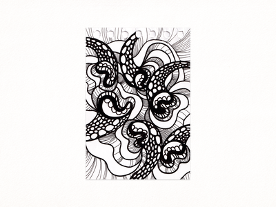 Pattern Mouth design meditation traditional art drawing illustration ink art abstract white black pattern