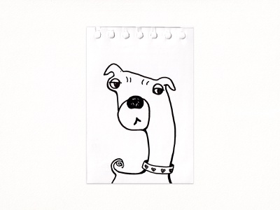 Suspecting-dog blackandwhite 2021 little traditionalart sketch finreliner ink drawing illustration dog