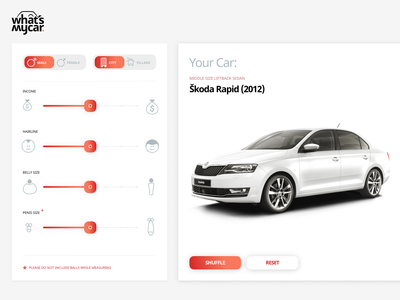 What's My Car Concept animation ui fun car